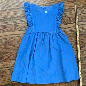 Vintage Cornflower blue corduroy jumper dress